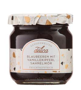 Blaubeeren mit Vanillekipferl Sahnelikör Fruchtaufstrich, 215 g