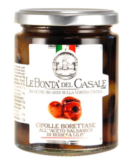 """""""Borrettane"""" Cipolle All'aceto Balsamico di Modena I.G.P. - Perlzwiebeln, 130 g"""
