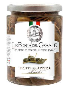 Frutti di Capperi all'aceto - Kapern mit mildem Essig, 280 g