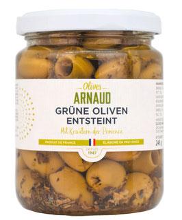 Grüne Oliven der Provence, entkernt, 130 g