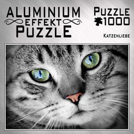 """Aluminium Puzzle """"Katzenliebe"""""""