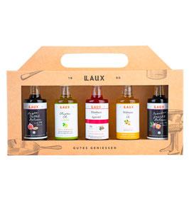 Essig & Öl Geschenkset, bunte Auswahl, 5 x 40 ml Flasche