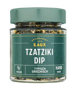 Tzatziki-Dip, Gewürzzubereitung mit Knoblauch, 70 g Glas
