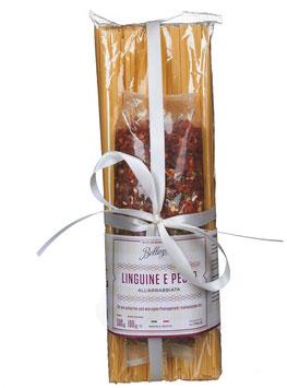 Linguine e Pesto all' Arrabbiata, 500 g Nudel-Tüte + 35g Gewürzmischung