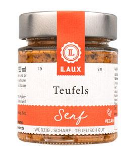 Teufels Senf, scharf mit ganzen Körnern, 170 ml