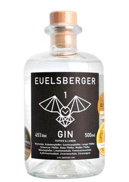 Euelsberger Gin Pepper & Lemon, 500 ml