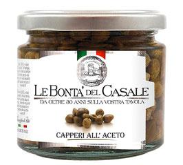 Capperi all'aceto - Kapern mit mildem Weinessig, 185 g