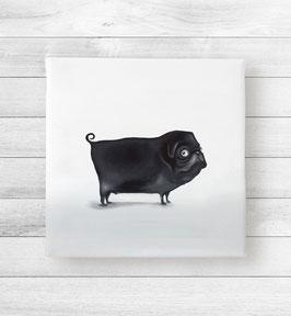 Kunstdruck auf Leinwand - Mops Michael