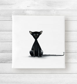 Kunstdruck auf Leinwand - Katze Blacky