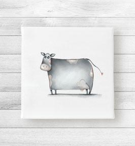 Kunstdruck auf Leinwand - Kuh Mathilda