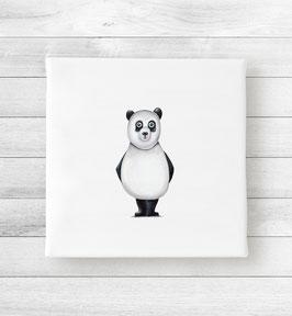 Kunstdruck auf Leinwand - Panda Olli