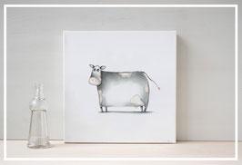 Original Ölbild Kuh Mathilda