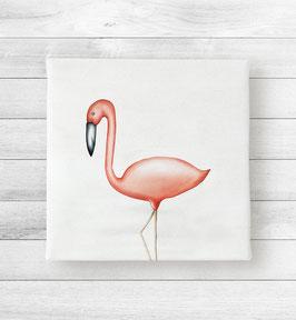 Kunstdruck auf Leinwand - Flamingo Flavio