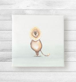 Kunstdruck auf Leinwand - Löwe Lino