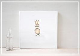 Original Ölbild Hase Marshmallow