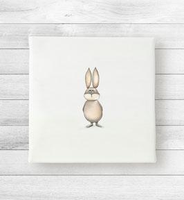 Kunstdruck auf Leinwand - Hase Kelvin