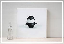Original Ölbild Pinguin Karl