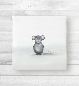 Kunstdruck auf Leinwand - Maus Mins