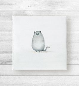 Kunstdruck auf Leinwand - Katze Katy