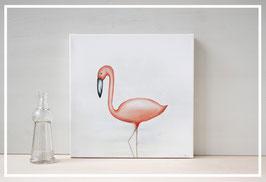Original Ölbild Flamingo Flavio