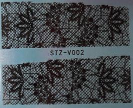 Schwarz-Weiss Wrap  NR. V002