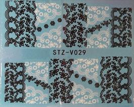 Schwarz-Weiss Wrap NR. 029