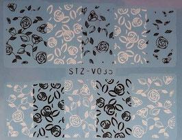 Schwarz-Weiss Wrap  NR. V035
