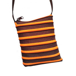 Petit sac chocolat / orange