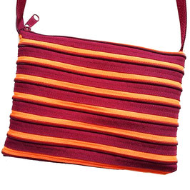 Grand sac orange / bordeau