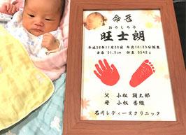 【愛おしい赤ちゃんへの最初のプレゼント♪】ありそうでなかった手形 足形 命名書 命名紙