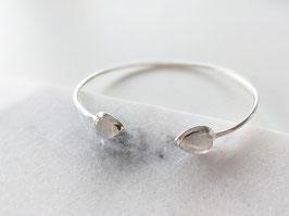 *925 Sterling Silber* Armreif Silber Naturstein Mondstein