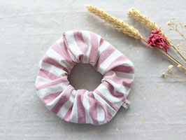 Scrunchie Haargummi Rosa Weiß Gestreift Icecream Upcycling Vintage