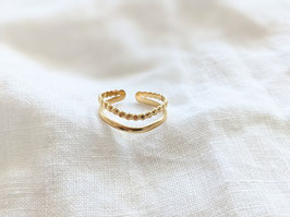 Ring Gold 14k Vergoldung Heavin  • Waves