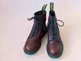 Dr. Martens Boots Dunkelrot Leder Stiefel Air Wair 1460 (42)