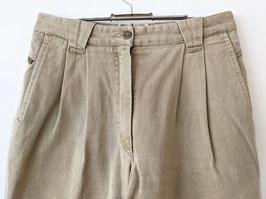 Jeans Bundfaltenhose Karotte 80s Khaki Highwaisted (M)