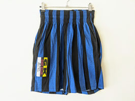 Shorts Sweatpants * Deadstock * Made in USA * Neu Highwaisted Streifen Blau Schwarz (S-M)