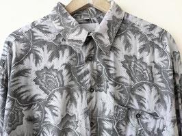 Hemd Crazy Pattern Palmen Jungle Print Grau Lilac  (L-XL)