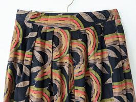 Rock Grafische Muster Afrikanischer Print Falten Plissee (M-L)