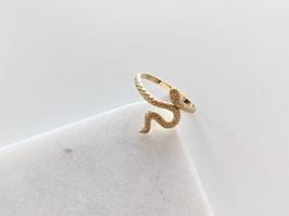 Ring Fine Snake 14k Gelbgold Vergoldung Vintage Stil - No 2