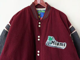 Collegejacke Miami Patch Bomberjacke Wolle Fooball (XL)