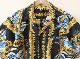 Hawaii Hemd Surfer Prints Schwarz Bunt Heavin (L)