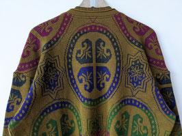 *RARE Carlo Colucci* Pullover 1st Edition Stickerei Khaki V-Neck (L)