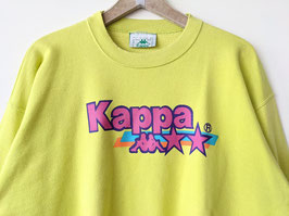 *Kappa* Sweater 80s Logo Print Hellgrün Pink Crewneck (XXL)