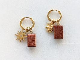 Gold Creole Naturstein Goldfluss Rostrot Handmade