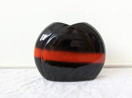 Vase 70er Jahre Roter Streifen West-Germany