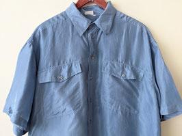 Hemd 100% Seide Himmelblau Basic Silk (L-XL)