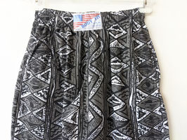 Jogginghose 80s Azteken Ethno Print Crazy Pattern Schwarz Weiß Sweatpants USA (S-M)