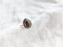 *925 Sterling Silber* Ring Naturstein Tigerauge Braun   Tropfen
