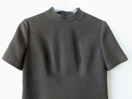 Kleid original 60er - 70er Jahre 100% Wolle Knöpfe Klassisch A-Linie (M-L)
