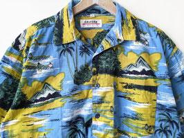 Hawaii Hemd Original Prints Blau Khaki • Heavin (L-XL)